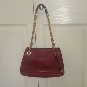 Micheal Kors purse with gold chain